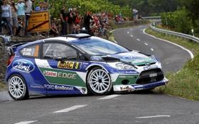 Обои Ford, Дорога, Спорт, Люди, WRC, Rally, Fiesta