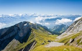Обои высота, горы, дорожки