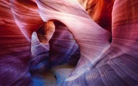 Картинка свет, скалы, текстура, арка, Каньон Антилопы