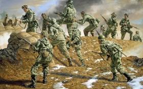 Картинка американцы, сша, корея, Kumwha Valley, Sunshine Division in Korea by Rick Reeves, Republic of Korea, ...