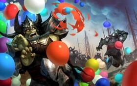 Обои шарики, страх, ситуация, армия, арт, воздушные, орки