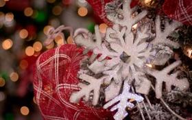 Обои праздник, украшение, снежинка