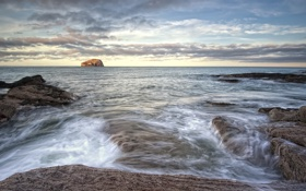 Картинка пейзаж, природа, побережье, Шотландия, North Berwick