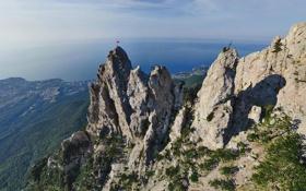 Картинка море, небо, горы, высота, простор, Крым, Ай-Петри