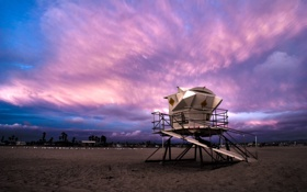 Обои песок, пляж, небо, облака, пейзаж, природа, краски