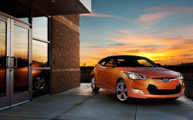 Картинка оранжевый, Hyundai, авто, цвет