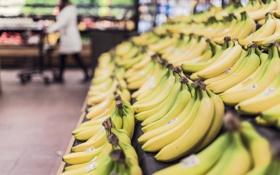 Обои бананы, магазин, супермаркет