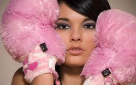 Картинка розовый, перчатки, плюшевый, недоумение