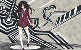 Картинка девушка, линии, абстракция, арт, tokiti