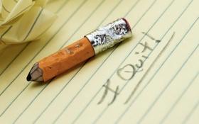 Обои макро, надпись, карандаш