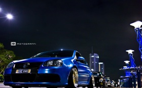 Обои streetracing, колонна, VW Golf, Motograffi Photography