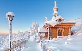 Картинка зима, снег, утро