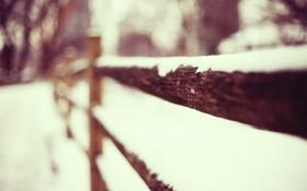 Картинка снег, забор, ограда