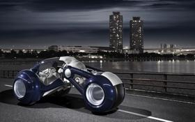 Обои город, фантазия, мото, Peugeot RD Concept