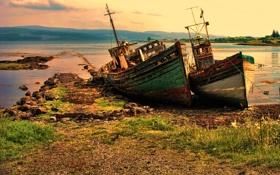 Картинка море, берег, лодки, суша