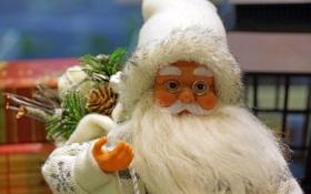 Обои Дед Мороз, мешок, подарки, Санта Клаус
