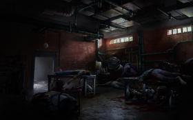 Обои эпидемия, трупы, люди, The Last Of Us, склад