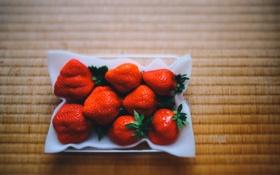Обои клубника, ягода, красная