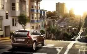 Картинка дорога, car, авто, небо, солнце, свет, город