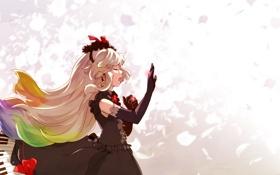 Картинка девушка, аниме, кольцо, арт, vocaloid, поет, mayu