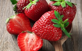 Обои strawberry, fresh berries, клубника, ягоды