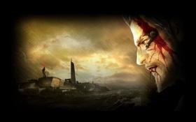 Обои кровь, human revolution, deus ex, адам дженсен, dlc, adam jensen, дополнение