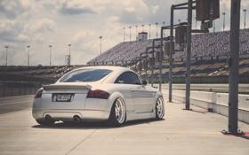 Картинка Audi, ауди, спорткар, серебристая, stance