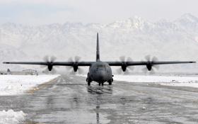 Обои самолёт, аэродром, A C-130 Hercules