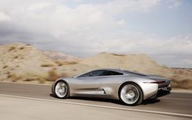 Обои C-X75, speed, Concept, дорога, car, Jaguar