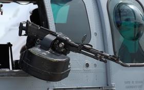 Обои вертолёт, единый пулемёт, FN MAG, 7.62 мм