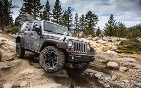 Обои камни, джип, внедорожник, jeep wrangler rubicion