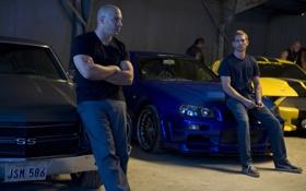 Обои Вин Дизель, Пол Уокер, Vin Diesel, Форсаж 4, Dominic Toretto, Fast & Furious
