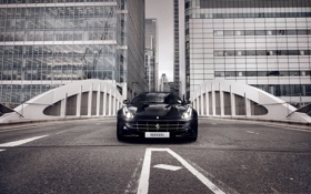 Обои город, здания, феррари, Ferrari FF
