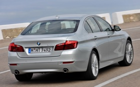 Картинка бмв, BMW, автомобиль, вид сзади, Sedan, 535i, Luxury Line