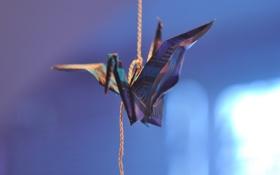 Картинка бумага, оригами, журавль