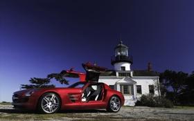 Обои Mercedes, Benz, Brabus, 2011, SLS, Amg