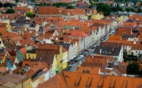 Картинка крыша, пейзаж, улица, дома, Германия