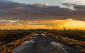 Обои rain, sunset, cloud, italy