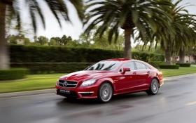 Обои Mercedes-Benz-CLS63 AMG, Авто, красота