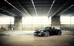 Картинка стекло, бетон, black edition, Porsche Boxster