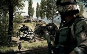 Обои солдат, танк, Battlefield