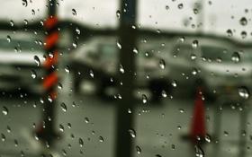 Картинка стекло, прозрачность, капли, туманность, дождь, размытость