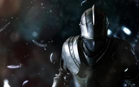 Обои перья, шлем, броня, рыцарь, Capcom, SCE Japan Studio, Deep Down