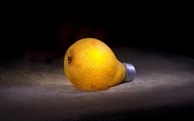 Обои лампа, груша, lamp, pear