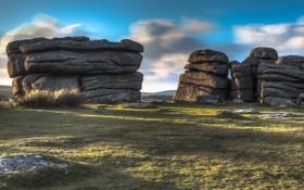 Картинка Devon, Dartmoor, Granite rock