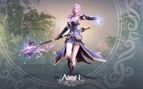 Картинка девушка, волшебство, магия, красота, Aion