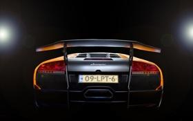 Обои свет, блики, оранжевая, Lamborghini, Ламборджини, Murcielago, 670-4