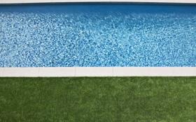 Картинка трава, вода, дизайн, газон, интерьер, прозрачная, бассейн