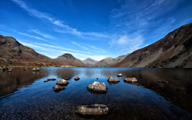 Картинка озеро, Англия, lake, England, Lake District, Cumbria, Wastwater