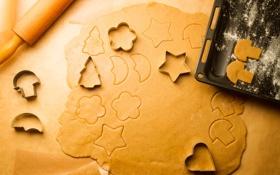 Обои Новый Год, печенье, Рождество, Christmas, десерт, выпечка, New Year